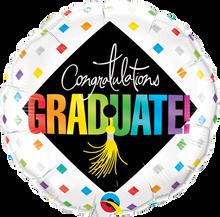 """18"""" Round Graduate Cap & Diamonds"""