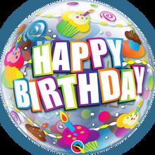 "22"" Bubble Balloon Birthday Colourful Cupcakes"