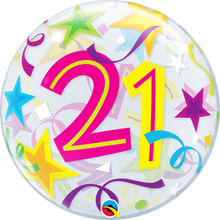 "22"" Bubble Balloon 21 Brilliant Stars"