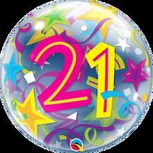 "22"" Bubble Balloon 21 Brilliant Stars"