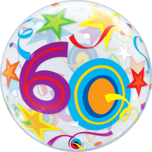 "22"" Bubble Balloon 60 Brilliant Stars"