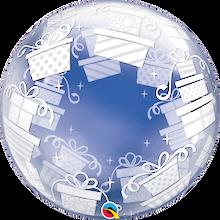 "24"" Deco Bubble Balloon Wrapped Presents"