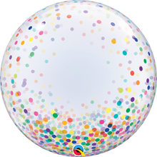 "24"" Deco Bubble Balloon Colourful Confetti Dots"