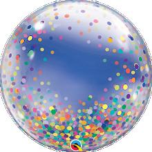 """24"""" Deco Bubble Balloon Colourful Confetti Dots"""