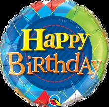 "18"" Round Birthday Tartan Plaid"