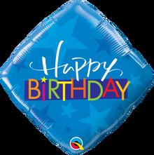 "18"" Diamond Birthday Blue Stars"