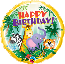 "18"" Round Birthday Jungle Friends"