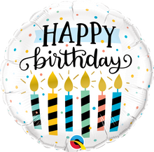 "18"" Round Birthday Candles & Dots"