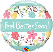 "18"" Round Feel Better Soon! Floral"