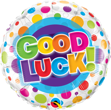 """18"""" Round Good Luck Colourful Dots"""