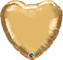 "18"" Heart Chrome Gold Plain Foil"