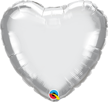 "18"" Heart Chrome Silver Plain Foil"