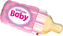 "39"" Shape Welcome Baby Bottle Pink"