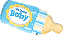 "39"" Shape Welcome Baby Bottle Blue"