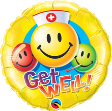 "18"" Round Get Well Smiley Faces"