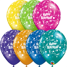 "11"" Round Latex Balloon Birthday Sparkling Fantasy Assortment"