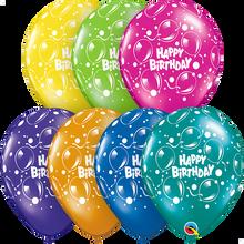 "11"" Round Latex Balloon Birthday Sparkling Fantasy Assortment"