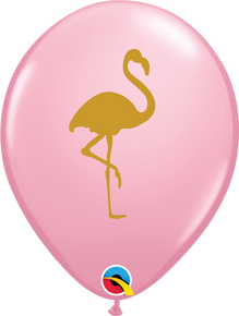 "11"" Round Latex Balloon Flamingo Pink"