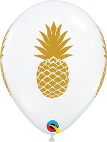 "11"" Round Latex Balloon Pineapple Diamond Clear"