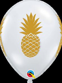 """11"""" Round Latex Balloon Pineapple Diamond Clear"""