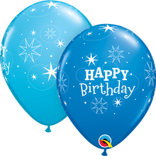 """11"""" Round Latex Balloon Birthday Sparkle - Boy"""