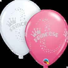"11"" Round Latex Balloon Glitter Princess Wrap"