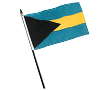 Bahamas Flag on a Stick