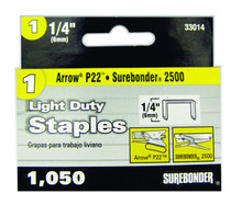 "#1 Light Duty Staples - 1/4"" - 1050ct"