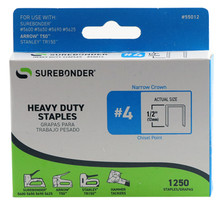 "#4 Heavy Duty Staples - 1/2"" - 1250ct"
