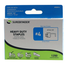 "#4 Heavy Duty Staples - 1/4"" - 1250ct"