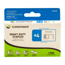 "#4 Heavy Duty Staples - 3/8"" - 1250ct"