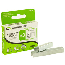 "#3 Light Duty Staples - 3/8"" - 1000ct"