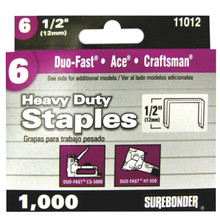 "#6 Heavy Duty Staples - 1/2"" - 1000ct"