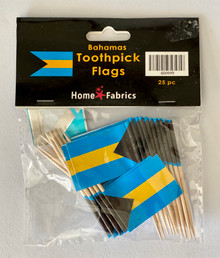 Toothpicks - Bahamas Flag