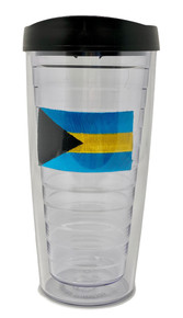 Tumbler - 16oz - Bahamas Flag Patch