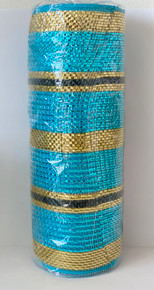 Bahamas Tri-Colour Deco Mesh - 10""