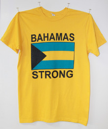 """Bahamas Strong"" T-Shirt - Gold"