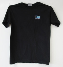 Bahamas Flag Embroidery T-Shirt - Black
