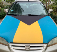 Bahamas Flag Car Hood Cover