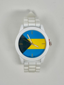 Bahamas Flag Silicone Watch - White