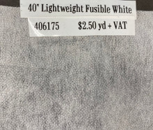 Interfacing - Lightweight Fusible White - 40""