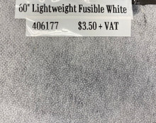 Interfacing - Lightweight Fusible White - 60""