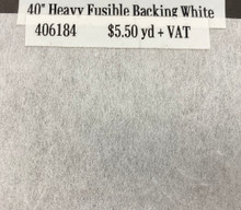 Interfacing - Heavy Fusible Backing White - 40""