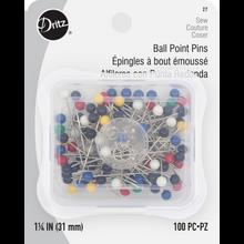 Ball Point Pins - 100ct
