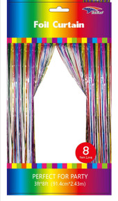 Metallic Deco Curtain - 3'x8'