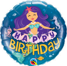 "18"" Round Happy Birthday Mermaid"
