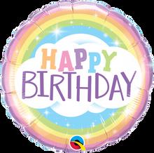"18"" Round Birthday Rainbow"