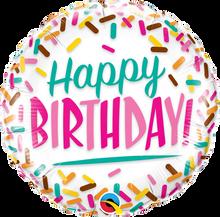 """18"""" Round Birthday Sprinkles"""