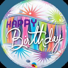 """22"""" Bubble Balloon Birthday Sorbet Starblast"""