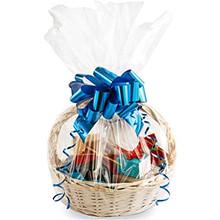 Large Cellophane Basket Bag